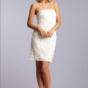 She Wong strapless wedding mini dress